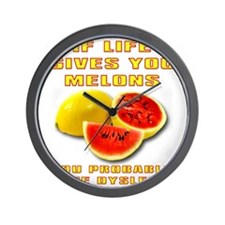 Dyslexic Melons Funny T-Shirt Wall Clock