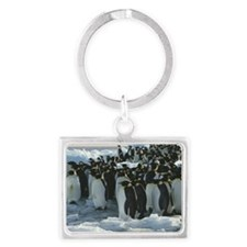 Emperor penguins Landscape Keychain