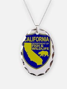 California Fish  Wildlife Necklace Oval Charm