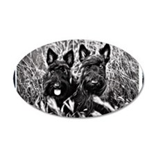 Sisters - Scottish Terriers  Wall Decal