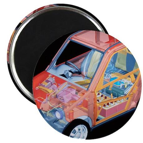 Electric car, artwork Magnet