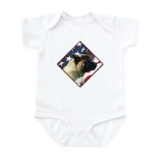Akita Flag 2 Infant Bodysuit