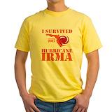 Hurricane irma Mens Classic Yellow T-Shirts