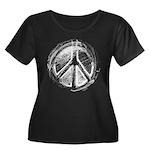 Urban Peace Sign Sketch Women's Plus Size Scoop Ne