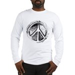 Urban Peace Sign Sketch Long Sleeve T-Shirt