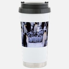 Emperor penguin chicks  Stainless Steel Travel Mug