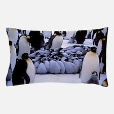 Emperor penguin chicks huddling Pillow Case