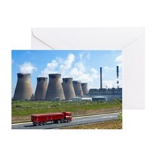 Ferrybridge power station Greeting Card
