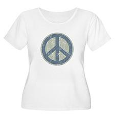 Urban Peace Sign - Denim T-Shirt