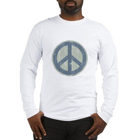 Urban Peace Sign - Denim Long Sleeve T-Shirt