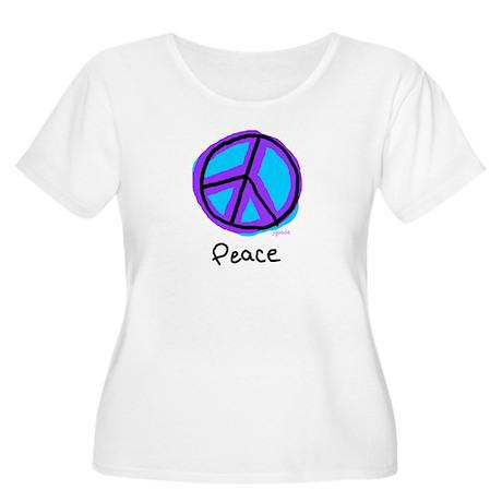 Peace Sign Doodle Women's Plus Size Scoop Neck T-S