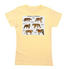 Tigers of the World Girl's Tee