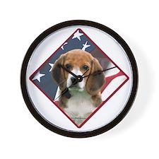 Beagle Flag 2 Wall Clock