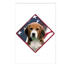 Beagle Flag 2 Postcards (Package of 8)