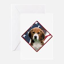 Beagle Flag 2 Greeting Cards (Pk of 10)