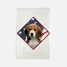 Beagle Flag 2 Rectangle Magnet