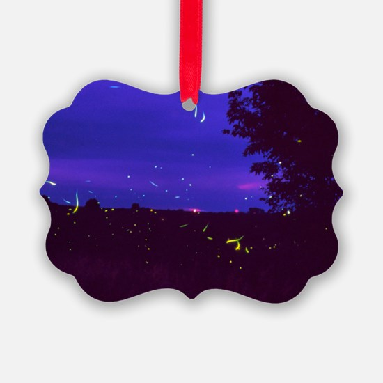 Fireflies over bean fields in Iow Ornament
