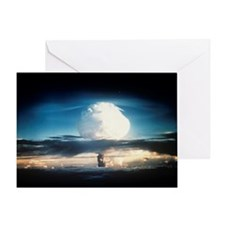 First hydrogen bomb explosion, 1952 Greeting Card