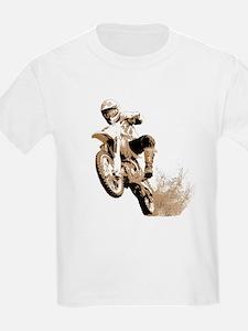 Dirt bike wheeling in mud T-Shirt