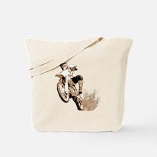 Dirt bike wheeling in mud Tote Bag