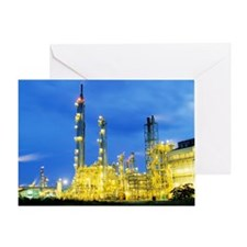 Gas flare Greeting Card