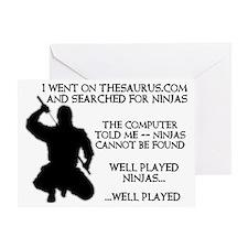 Thesaurus Ninja Funny T-Shirt Greeting Card