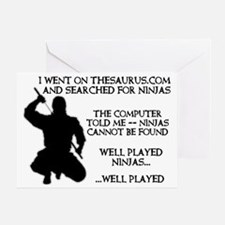 Thesaurus Ninja Funny T-Shirt Greeting Card