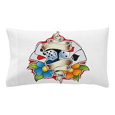 Gambling Tattoo Pillow Case