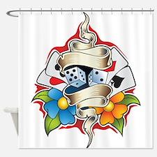 Gambling Tattoo Shower Curtain