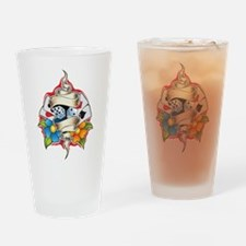 Gambling Tattoo Drinking Glass