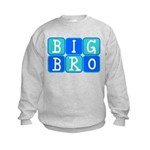 Big Bro (Blue/Green) Kids Sweatshirt