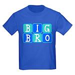 Big Bro (Blue/Green) Kids Dark T-Shirt