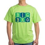 Big Bro (Blue/Green) Green T-Shirt