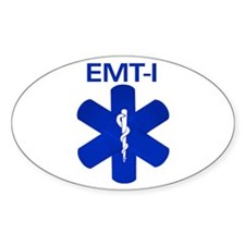 EMT-I Bandaids Oval Decal