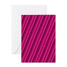 Bold Pink Stars Aligning Designer Greeting Card