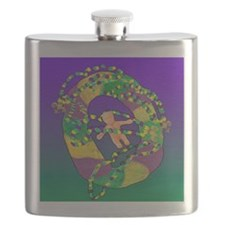 Mardi Gras king cake Flask