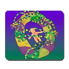Mardi Gras king cake Mousepad
