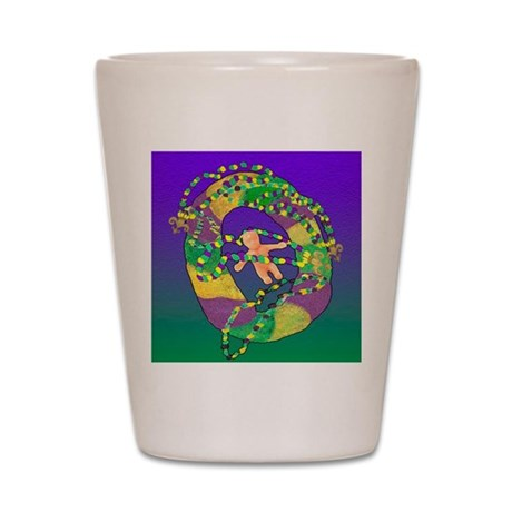 Mardi Gras king cake Shot Glass