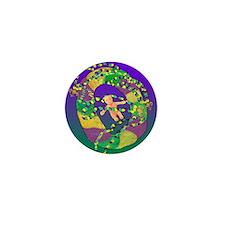 Mardi Gras king cake Mini Button