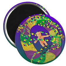 Mardi Gras king cake Magnet