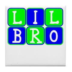 Lil Bro (Blue/Green Bright) Tile Coaster