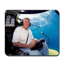 Gerard Depardieu in a submarine Mousepad