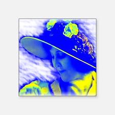 "La Belle Bleue Square Sticker 3"" x 3"""