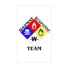 HAZMAT Response Team Rectangle Stickers