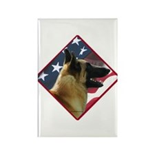 Malinois Flag 2 Rectangle Magnet