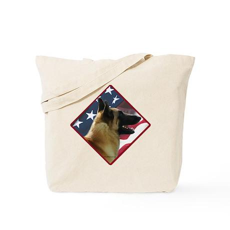 Malinois Flag 2 Tote Bag