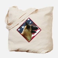 Malinois Flag 2 Tote Bag