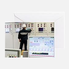 Gas fuel compressor plant Greeting Card