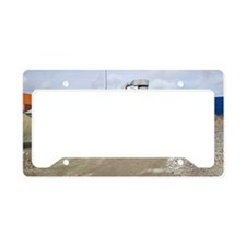 Glass crushing License Plate Holder