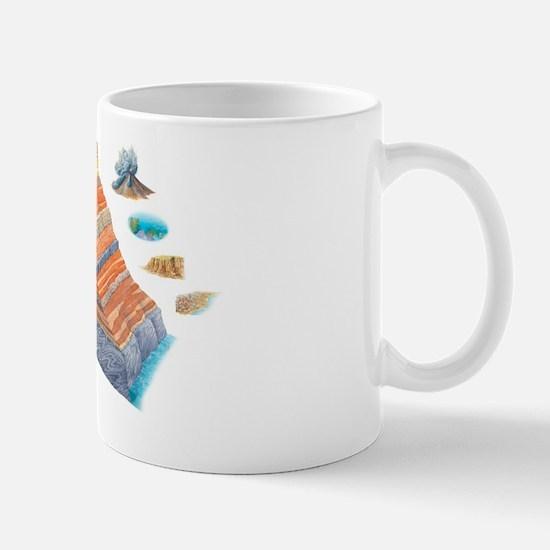 Geological formations, artwork Mug